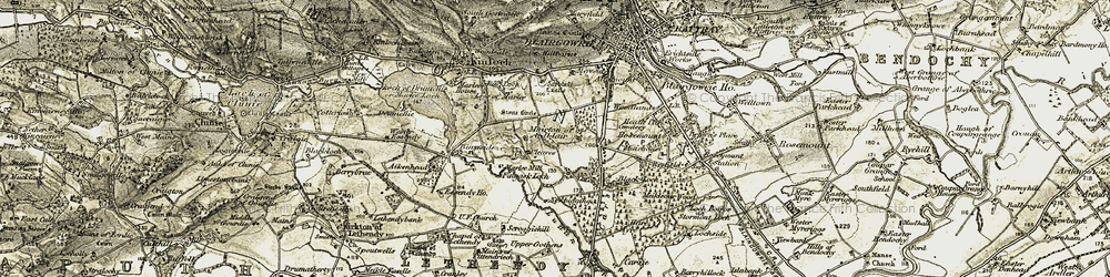 Old map of White Loch in 1907-1908
