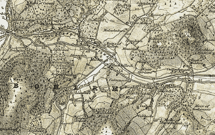 Old map of Aulton in 1910