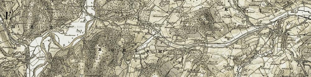 Old map of Allt Tersie in 1910