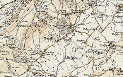 Old map of Aston Deans in 1902