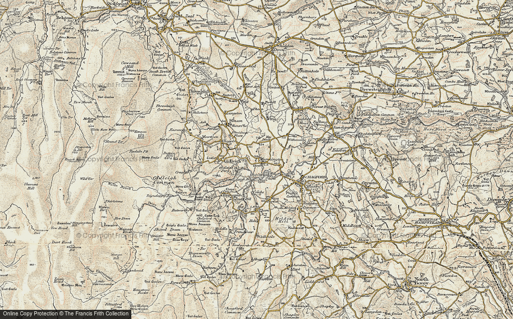 Old Map of Murchington, 1899-1900 in 1899-1900