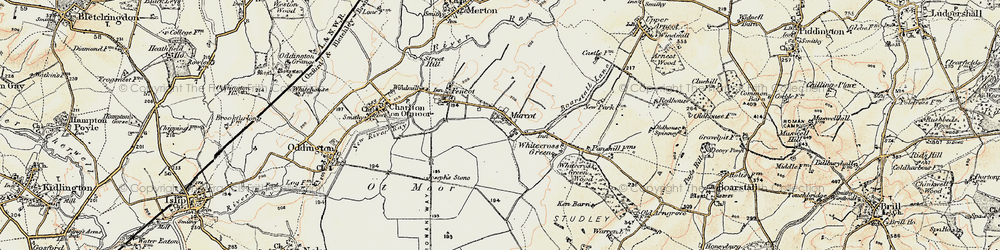 Old map of Whitecross Green in 1898-1899
