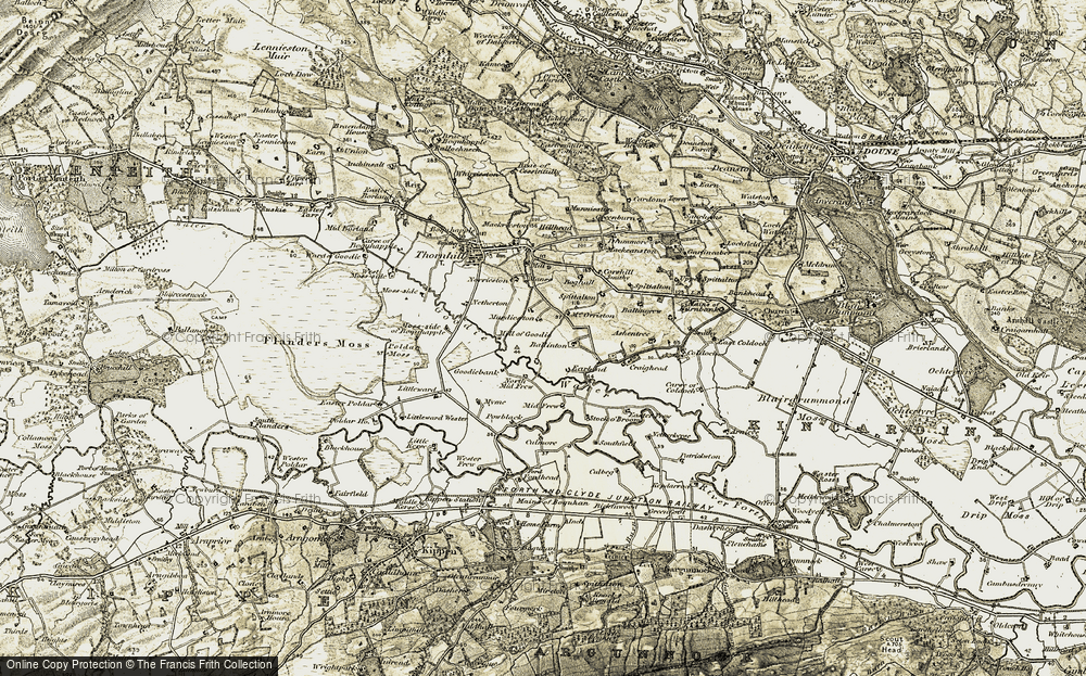 Old Map of Historic Map covering Ballinton in 1904-1907