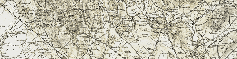 Old map of Woodhead in 1901-1904