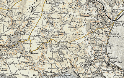 Old map of Murton in 1900-1901