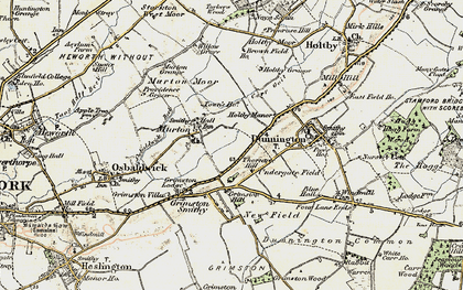 Old map of Yorkshire Museum of Farming in 1903