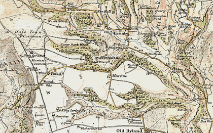 Old map of Wethercote in 1903-1904