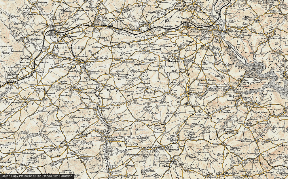 Old Map of Historic Map covering Larcombe in 1899