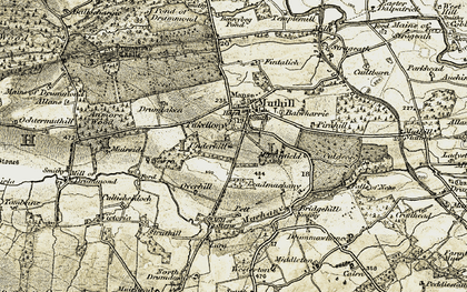 Old map of Westerton in 1906-1907