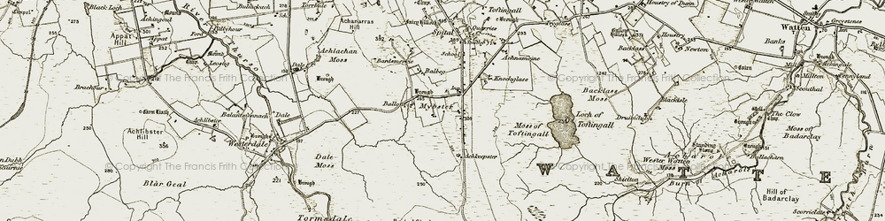 Old map of Achkeepster in 1911-1912