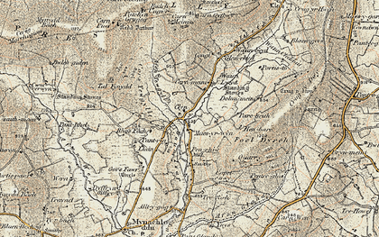 Old map of Ynysfawr in 1901
