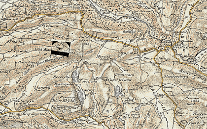 Old map of Banc Blaen Magwr in 1901-1903