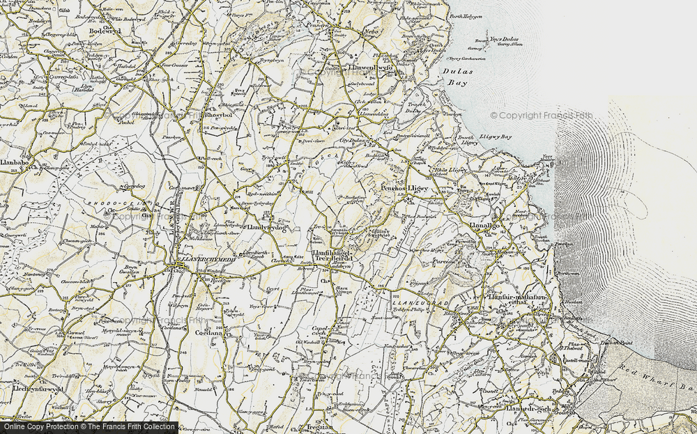 Old Map of Historic Map covering Afon Lligwy in 1903-1910