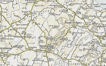 Old map of Afon Lligwy in 1903-1910