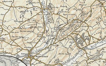 Old map of Allt-Cunedda in 1901