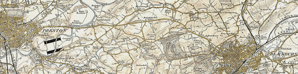 Old map of Woodfold Hall in 1903