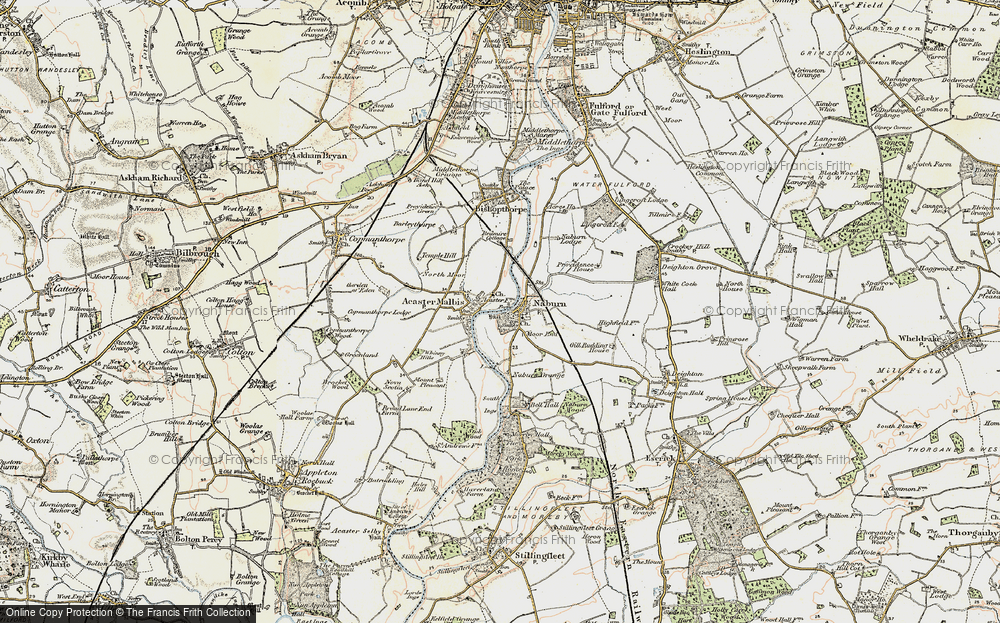 Old Map of Naburn, 1903 in 1903