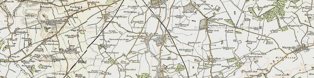 Old map of Naburn in 1903