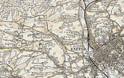 Old map of Alphin Brook in 1899