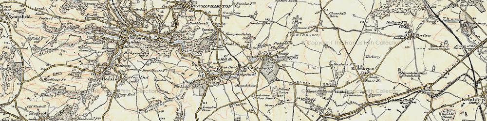 Old map of Westrip Farm Ho in 1898-1899