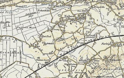 Old map of Nailsea in 1899