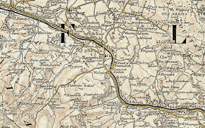 Old map of Nannerch in 1902-1903