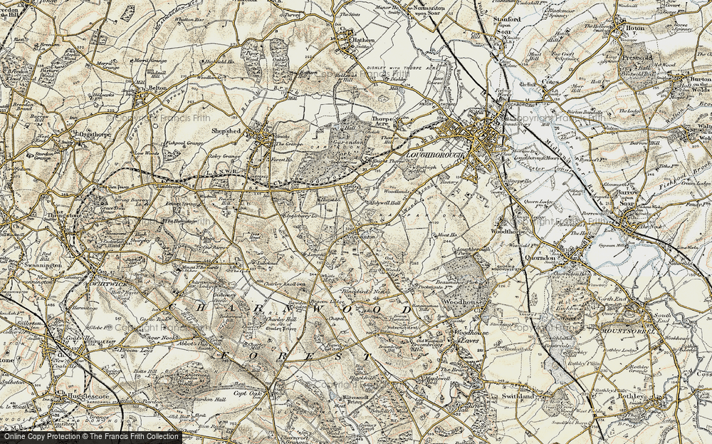 Old Map of Historic Map covering Wood Brook in 1902-1903