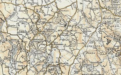 Old map of Nanpean in 1900
