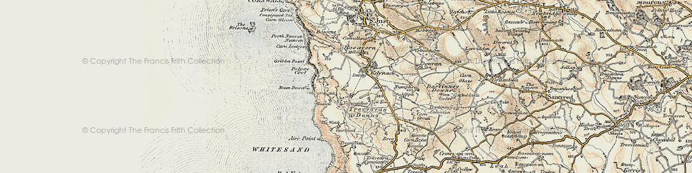 Old map of Aire Point in 1900