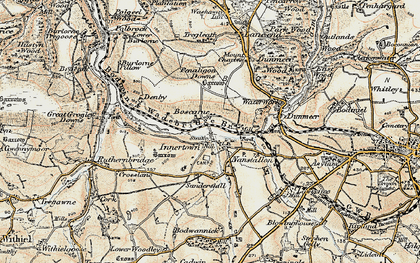 Old map of Nanstallon in 1900