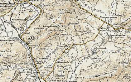 Old map of Yr Hysfa in 1900-1903