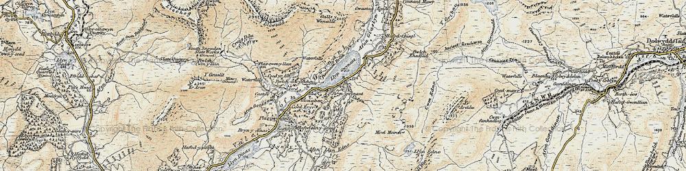 Old map of Afon Llynedno in 1903