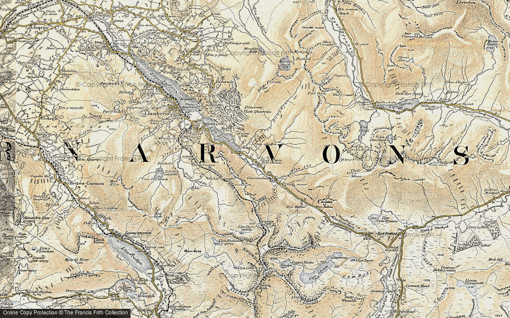 Old Map of Historic Map covering Adwyrwaen in 1903-1910