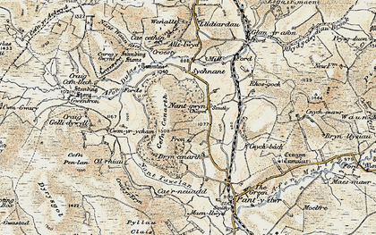 Old map of Alltlwyd in 1901-1903