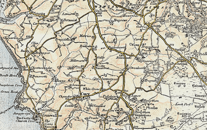 Old map of Nantithet in 1900
