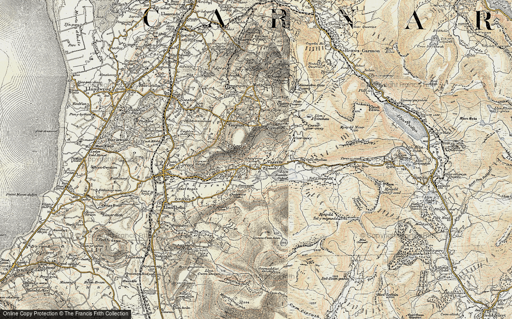 Old Map of Nantlle, 1903 in 1903