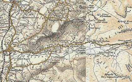 Old map of Nantlle in 1903