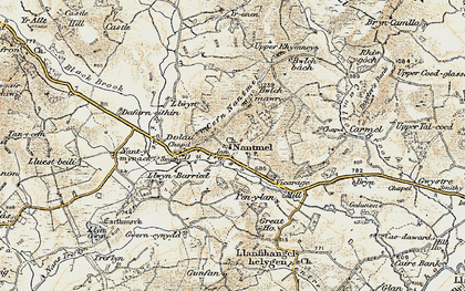 Old map of Yr Onnen in 1901-1903