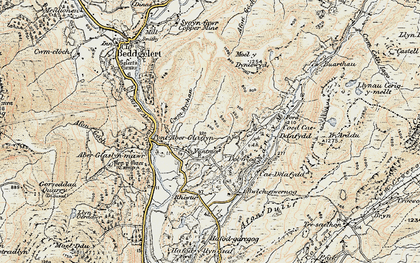 Old map of Cwm Bychan in 1903