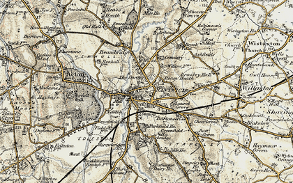Old map of Nantwich in 1902