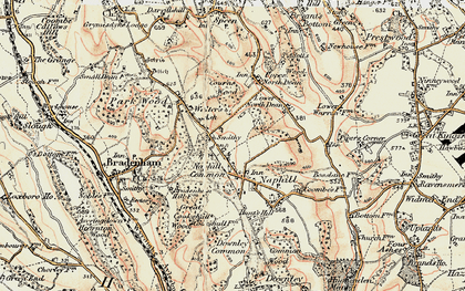 Old map of Naphill in 1897-1898