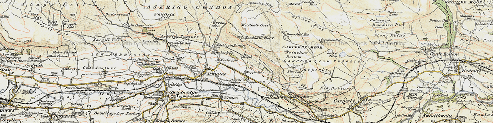Old map of Whirley Gill in 1903-1904