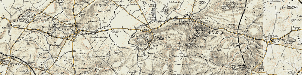 Old map of Napton on the Hill in 1898-1902