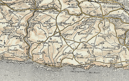 Old map of Narkurs in 1899-1900