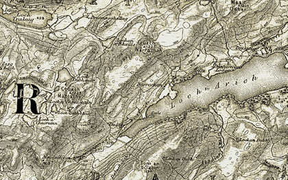 Old map of An Dàm in 1906-1907