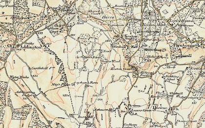 Old map of Nash in 1897-1902