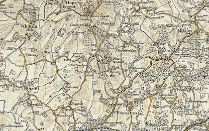 Old map of Nash in 1901-1902