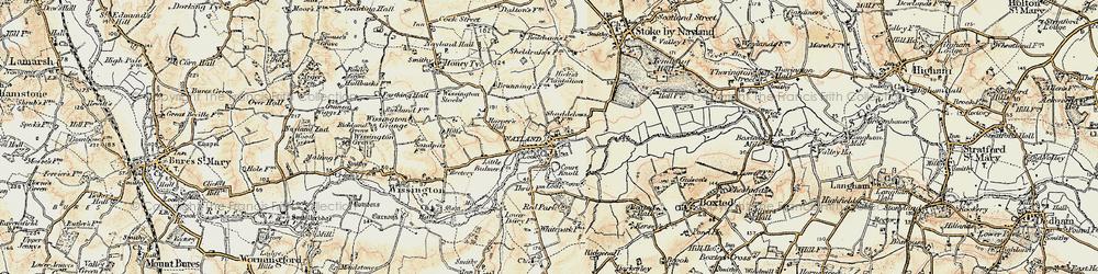 Old map of Windyridge in 1898-1901