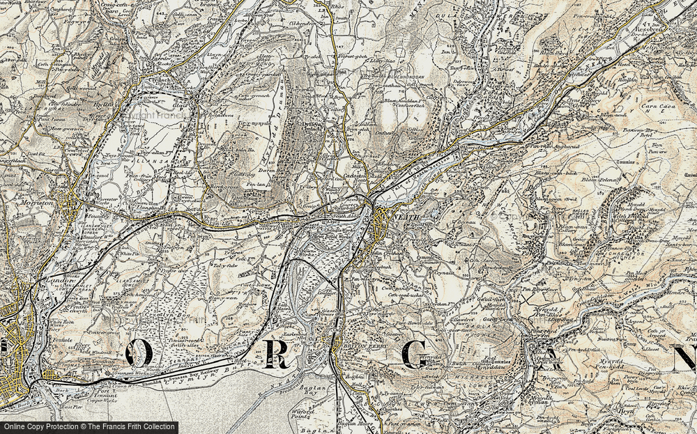 Old Map of Neath, 1900-1901 in 1900-1901