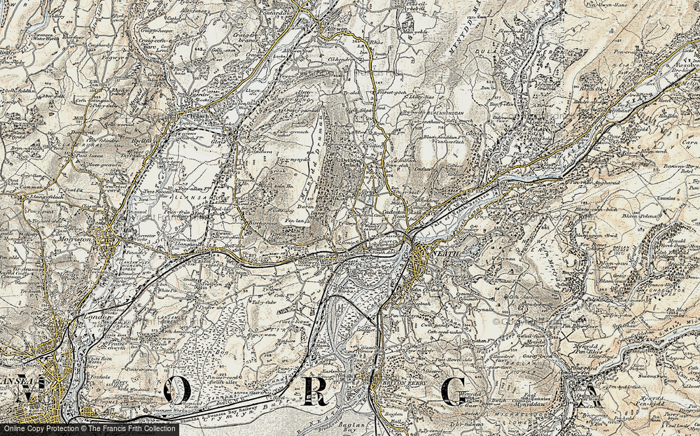 Old Map of Neath Abbey, 1900-1901 in 1900-1901